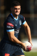Nathan Cleary at NSW training on Tuesday.