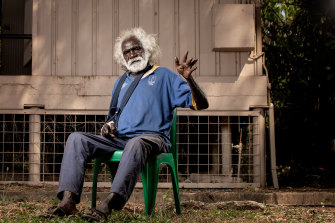 Originally from Wadeye, Timothy Dumoo now calls One Mile Dam his home.