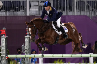 Hoy in action during the eventing.