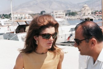 Channel Jackie Kennedy on a 1960s Grecian holiday with an oversized, tortoiseshell frame.
