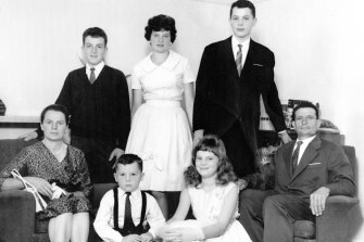 The Ballan family in 1959, the year after they arrived in Australia.