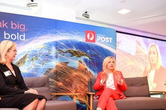 Meet the team: Australia Post chief executive Christine Holgate and group executive Annette Carey.