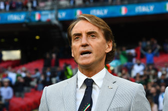 Roberto Mancini exudes cool.