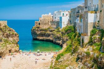 Polignano a Mare in Bari, Puglia, southern Italy.