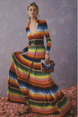 This striped knit shirtdress was criticised for too closely resembling a serape from Saltillo.