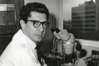 Professor Miller, pictured here in 1968.
