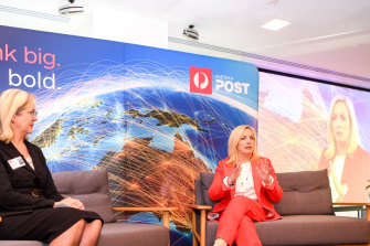 Meet the team: Australia Post chief executive Christine Holgate and group executive Annette Carey.