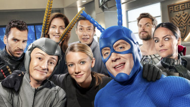 The Tick collects a group of helpers including accountant Arthur, who becomes The Moth.