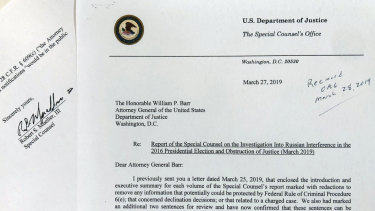 Mueller sought to have Barr release more details from his report than Barr originally did.