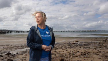Save Westernport's Louise Page says the federal election has brought huge attention to her community group's campaign against AGL's plan for a floating gas hub in Western Port.