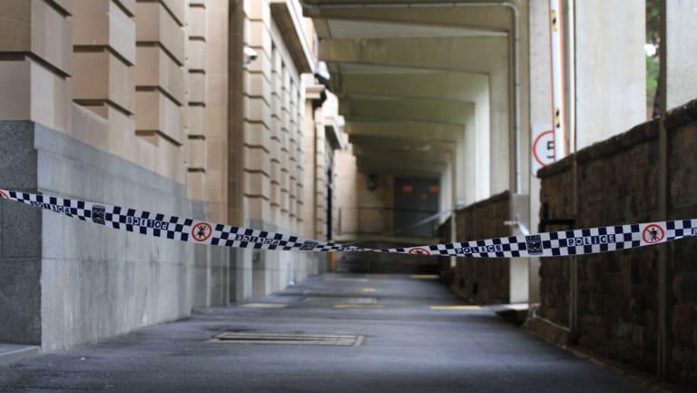 The Brisbane CBD laneway where a homeless man was run over by a rubbish truck.