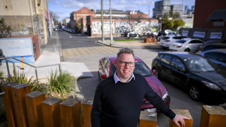 """Collingwood College principal Sam Luck said two staff members had been """"knocked off"""" their bikes and students had """"close calls"""" with motorists this year."""