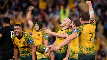 It's a miracle: You see, it can be done. The Wallabies win in Brisbane in 2017.