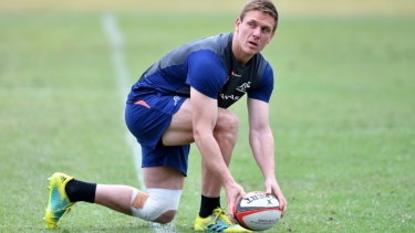 Waiting in the wings: Dane Haylett-Petty could be the beneficiary of Israel Folau's possible sacking.