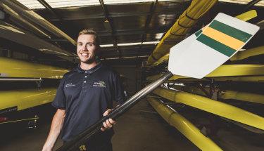 Australian rower Caleb Antill has his eyes set on becoming an Olympian at Tokyo 2020.