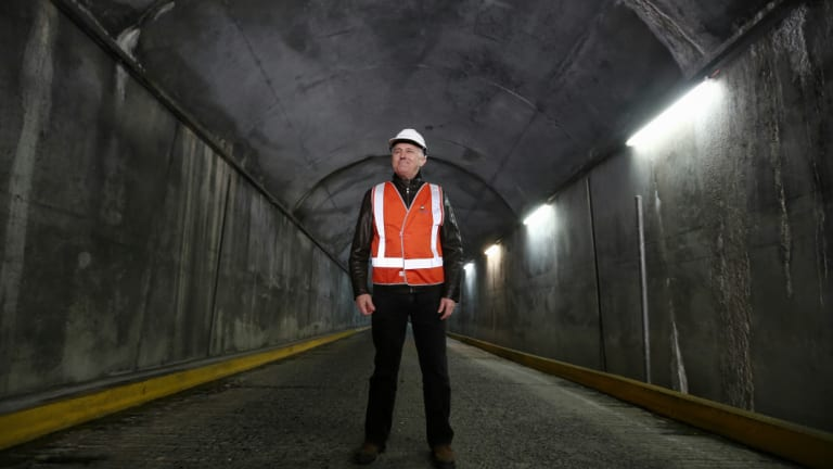 The Snowy Hydro expansion was a signature project of former prime minister Malcolm Turnbull, pictured here touring the facility.
