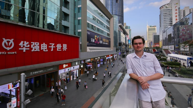 """You get things cheaper, you get things faster to market"": Australian Mike Reed works as an engineer in Shenzhen."