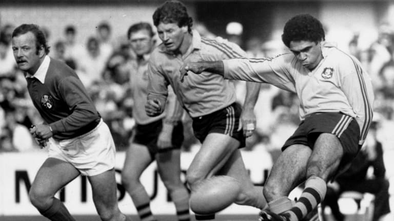 Unrivaled: Mark Ella playing against the All Blacks in 1984.