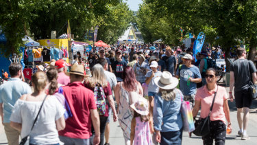 Crowds flock to the Royal Canberra Show on Saturday.