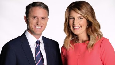 Max Futcher and Seven News co-anchor Sharyn Ghidella.