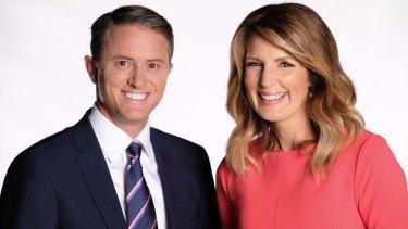 Max Futcher and Seven News co-anchor Sharyn Ghidella.