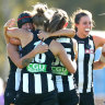 Collingwood edge out Kangaroos after Brown boots winning goal