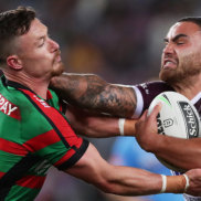 Manly five-eighth gives Souths hooker a 'don't argue'
