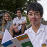 The program equipped year 10 student Francis Manguilin (centre) with an action plan.