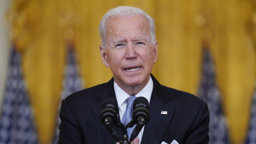 The Biden administration will make COVID-19 vaccines available to all American adults starting next month, beginning with senior citizens and healthcare workers.