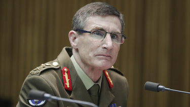 "Chief of the Defence Force General Angus Campbell told a Senate estimates hearing he was ""discomforted"" by the social media video."
