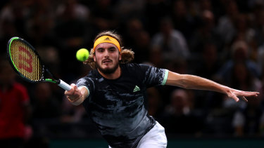 Tsitsipas was no match for Djokovic in their quarter-final clash.