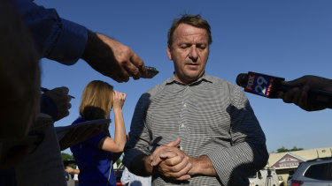 Annapolis Mayor Gavin Buckley speaks to reporters near the scene of a shooting in the Maryland capital.