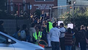 More than 1100 students are enrolled at Ironside State School. The school has a capacity of 800, parents say.