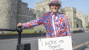 Royal fan Terry Hutt waits for the birth of The Duke and Duchess of Sussex's first child.