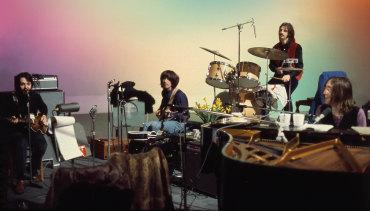 Paul McCartney, George Harrison, Ringo Starr and John Lennon in Peter Jackson's documentary The Beatles: Get Back.