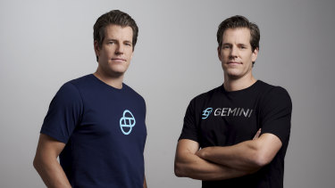 Tyler (left) and Cameron Winklevoss are the founders of cryptocurrency exchange Gemini.