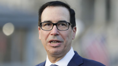 US Treasury Secretary Steve Mnuchin.