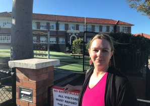 Ironside State School parent Michaela Sargeant says time on the school oval is divided into three because there are too many students.