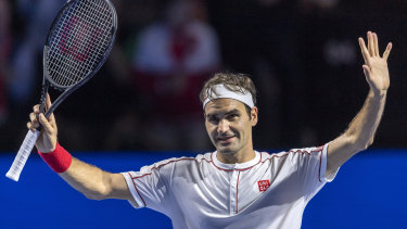 Roger Federer just keeps on rolling at his home tournament in Basel.