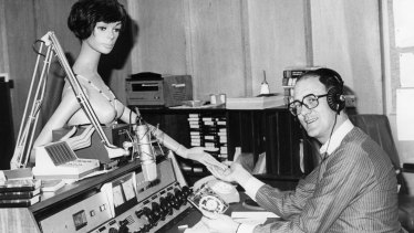Tony Cane presents during his federal music department days, with help from a silent friend.