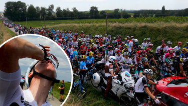 Four-time champion Chris Froome is among several riders who have had their eyes treated for tear gas.