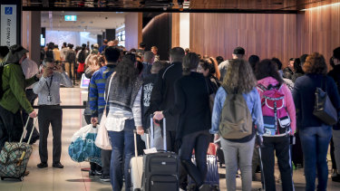 There was a sharp drop in visitor numbers even before the travel ban, ABS figures reveal.