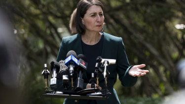 Premier Gladys Berejiklian announced the restrictions on stadiums would be relaxed