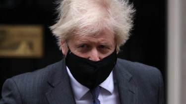 British Prime Minister Boris Johnson leaves 10 Downing Street.