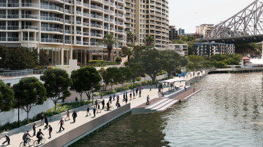 The Brisbane City Reach Waterfront draft masterplan suggests multiple options for the revitalisation of a key stretch of riverside land in the city's centre.