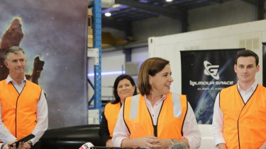 Ms Frecklington pledged to send Queensland into the stratosphere - literally.