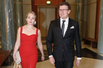 Rachelle Miller and Alan Tudge in 2017, the year the couple had an affair.