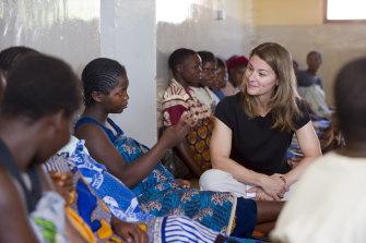 Melinda Gates in the maternity room at Dowa District Hospital, in Dowa,  Malawi .