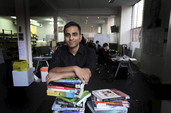 Zookal co-founder and chief executive Ahmed Haider, whose company is considering making a bid for the Co-op, in 2013.