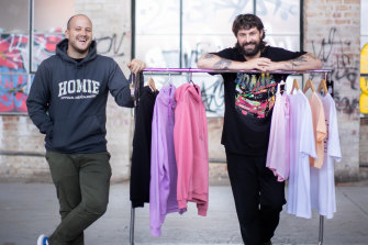 Nick Pearce, left, and Marcus Crook started HoMie after initially wanting to share the stories of Melbourne's homeless people.